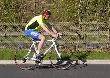 Here's me on the new bike!
