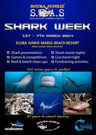 Scuba Junkie Shark Week promo poster