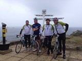 The Happy Four having finally conquered the 1000 miles around Britain
