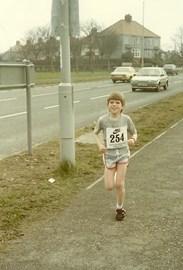 Kev's first fun run, age 9