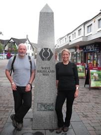 Start West Highland Way Noni and Alan