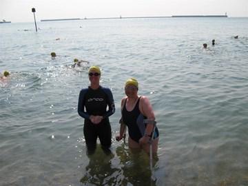 Me & my swim buddy Eleanor training in Dover