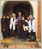 The girls with Latifa in the Asni house