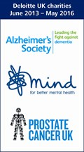 Deloitte National Charities - Alzheimer's Society, Mind, and Prostate Cancer UK