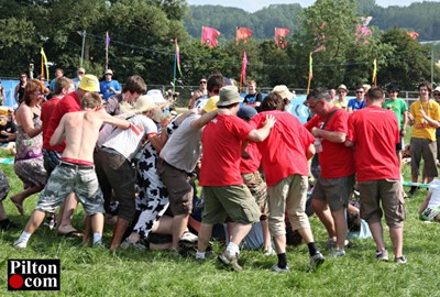 The fans pile on the England keeper