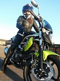 Me on Jasper, my Suzuki SFV 650 Gladius