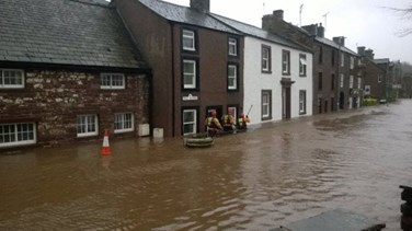River Eden burst its banks, causing flooding in Appleby