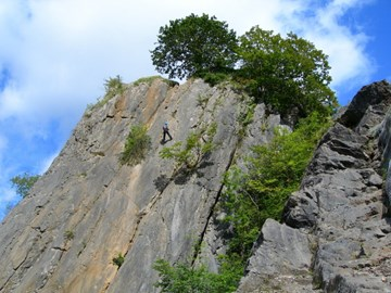Abseil at Craig-Y-Dinas