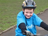 Charlie on his bike...