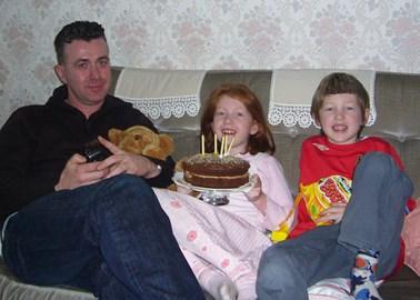 Luke and Natasha with Uncle Jonathan