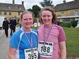 Me and Ali after our amazing 10k race