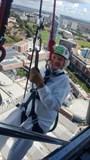 Abseiling last year aged 99