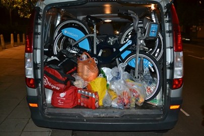 Boris v Le Tour - How many Boris bikes can you fit in a van? Before heading North to ride stage 1 of the 2014 Tour de France