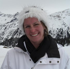 Susan on the slopes!