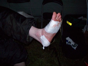 My left foot at the halfway point!!
