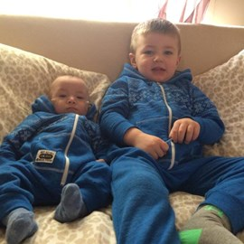 Shae and his baby brother Harvey-Jay