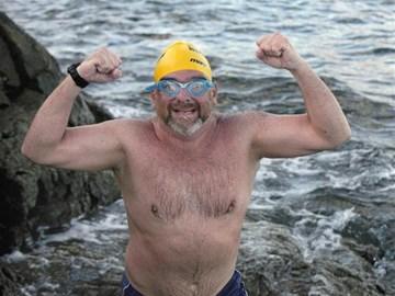Just finished my around Guernsey swim...