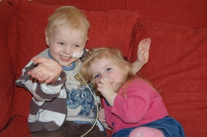 Jamie and his sister Poppy