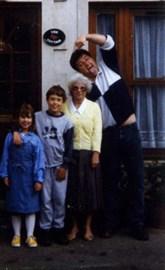 Nan, sister, dad and me