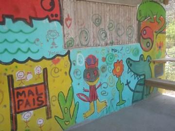 Children's art in Mal Pais