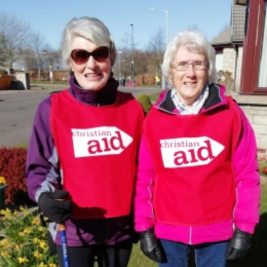 Janice - Liz Perth North Church - raising funds for Christian Aid