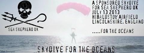 Sea Shepherd UK-Skydive For The Oceans