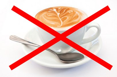 No coffee for me :(