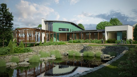 CGI of how the new Hospice will look