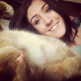 Me and my cat Betty!