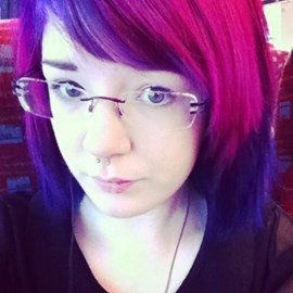 my crazy pink and purple hair