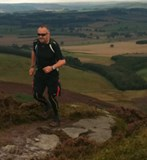 Running up Long Crag, Northumbria