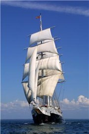 Lord Nelson under sail