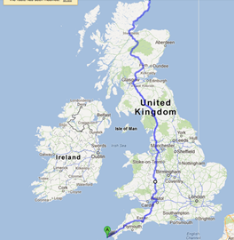 An approximation of the route