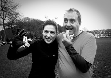 Dad & Me complete our first (hard) 5k!