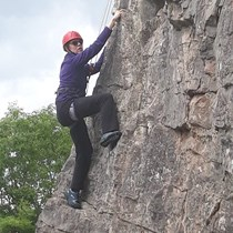 West Midlands Paraclimbing Club Katy Evans