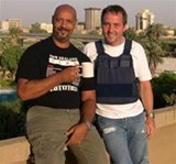 Paul and James relax in Baghdad
