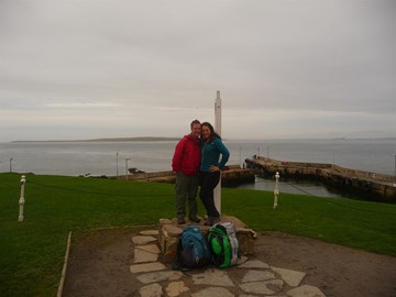 Standing at the finish in John o'Groats