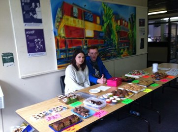 Cake stall - raised £65.40 for WAA!