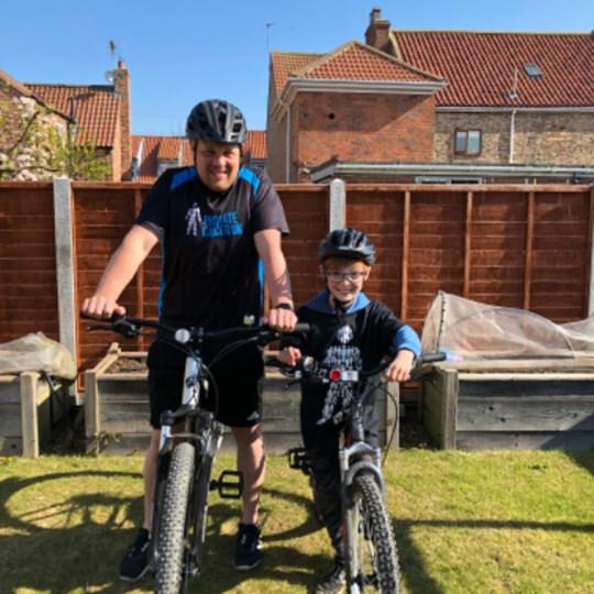 Paul and Leo's cycle challenge