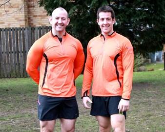 Matching training tops! Nice......