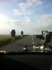 Me and Will Clarke training in Exmoor!