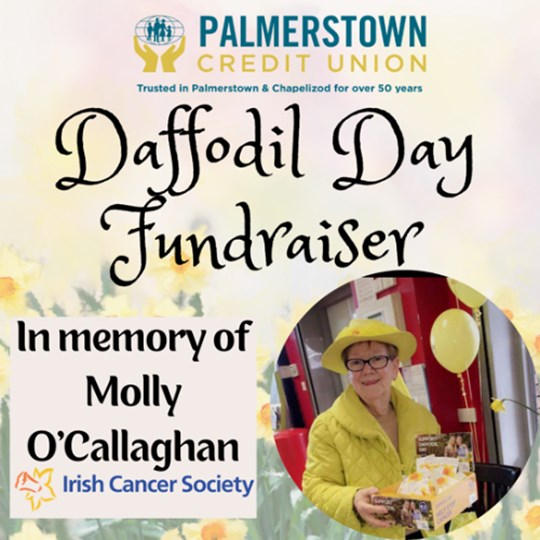 In memory of Molly O'Callaghan by Palmerstown Credit Union