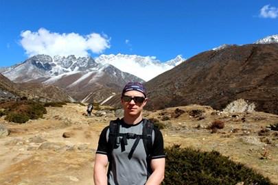 Adam at Everest