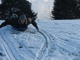 Sledging on  Kili (possibly)