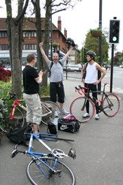 At Redhill, the start of the killer hill