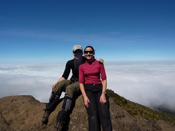 Estelle & I on top of the world!