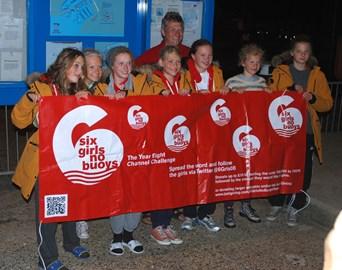 6 Girls Team Celebrate their return to Dover