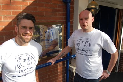 Jacko with Malcolm from Hall-Fast at Headway HQ