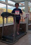 me and my treadmill... 61.5lb lighter!