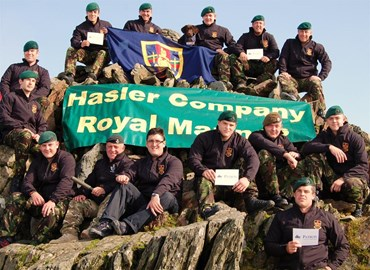Marines team - reaching Snowden summit!